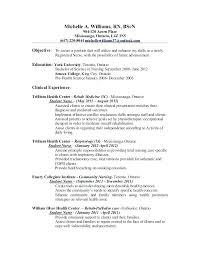 Resume Rn Examples Resumes For Nursing Resumes Sample Nursing Resume