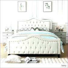White Tufted Bed Frame King – Chann