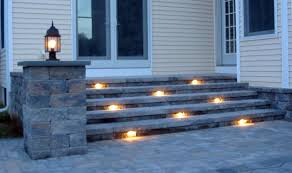 lighting steps. step construction with lighting steps p