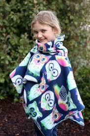 Fleece Poncho Pattern With Hood Custom 48Minute Cowl Neck Fleece Poncho Tutorial Gluesticks