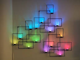 neon lighting for home. LED Lights And Glass Votives Create This Geometric Neon Wall Art That S Certain To Inspire Lighting For Home T