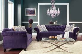 Purple Living Room Furniture Amazoncom Furniture Of America Ivorah Glamorous Love Seat