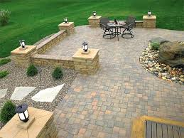 luxurious image brick patio design