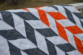 An orange and grey herringbone quilt - NewlyWoodwards & Orange and gray herringbone quilt3 Adamdwight.com