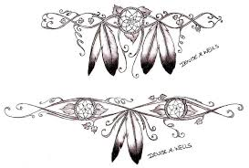Eagle Feather Dream Catcher Mesmerizing Native American Dreamcatcher Feather Tattoo Designs By Denise A