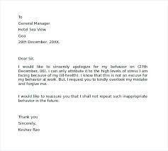Business Apology Letter For Mistake Fascinating Apology Letter For Mistake To Boss Manager Oliviajaneco