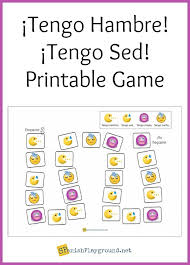 Spanish Tener Chart Tener Expressions Game For Spanish Learners Spanish Playground