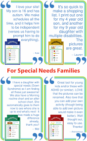 Daily Routine Chart For 9 Year Old Make Visual Checklists With The Trip Clip To Help Give Your Special Needs Child A Clear Routine