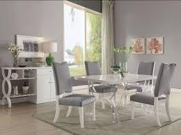 acrylic dining room chairs. Martinus High Gloss White And Clear Acrylic Dining Room Set Chairs E