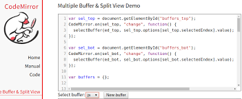 Example With Multiple Buffers Issue 45 Codemirror Codemirror