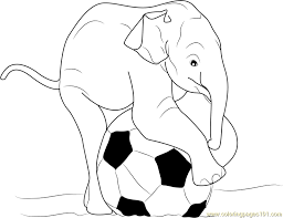 Small Picture Baby Elephant Playing Ball Coloring Page Free Elephant Coloring