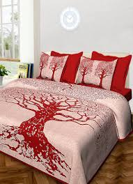 Screen Printing Designs For Bed Sheets Jaipuri Hand Screen Printed Queen Size 90 X 108 Inched Cotton Bedding Bedsheet With 2 Pillow Cover