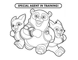 Small Picture Special Agent Training in Special Agent Oso Coloring Page Special