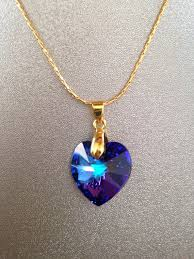 swarovski elements blue heart necklace swarovski heart pendant necklace swarovski necklace swarovski blue heart necklace gift idea