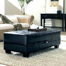 black leather storage ottoman black leather storage ottoman medium size of coffee wood coffee table storage