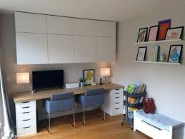 Ikea Home Office Furniture A Light Home Office With A Grey Chair