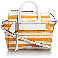 Coach Bleecker Mini Riley Carryall - Bright Mandarin White