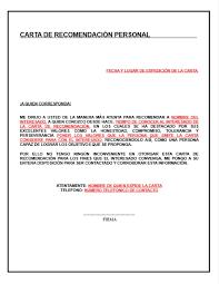 Formato Referencia Personal Carta De Recomendacion Personal Descripcion Ejemplos