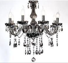 smoke crystal chandelier cognac black top luxury arms large chandeliers re gray restoration hardware orb matte
