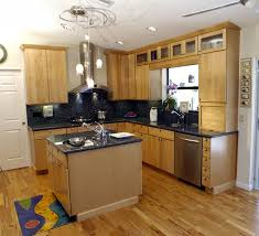 Mixing Kitchen Cabinet Colors Painted Kitchen Cabinets With Natural Wood Doors Quicuacom
