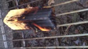 Burn Wood untreated left treated right - YouTube