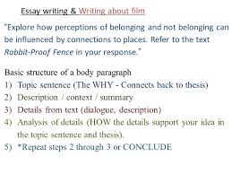 essay writing writing about film part the return brought to  4 essay