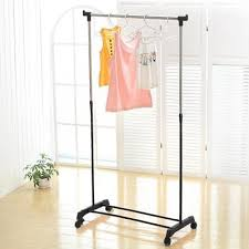 Adjustable Coat Rack Gorgeous Adjustable Clothes Rack Coat With Shoe Garment Rolling Stand Home