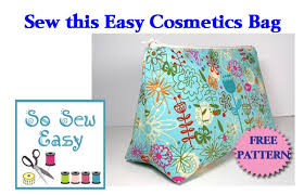Easy Sewing Patterns For Beginners Cool Easy Cosmetics Bag Pattern So Sew Easy