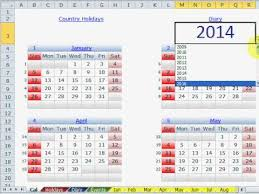 Perpetual Calendar Presentation In Excel 2010 Youtube