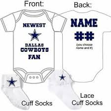 Details About Personalized Dallas Cowboys Fan Baby Gerber Onesie Socks Custom Made Great Gift