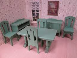 dollhouse dining room furniture. Strombecker Wooden Dollhouse Dining Room Furniture - Large One Inch Scale