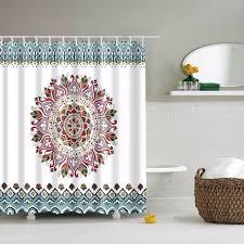 lfh 180x180cm mandala bohemian shower curtain romantic bathroom curtains fabric bathroom set with hooks hippie boho decorations shower curtains