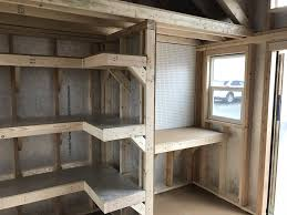 shelving pegboards a workbench and a loft this storage shed is ready for just about anything
