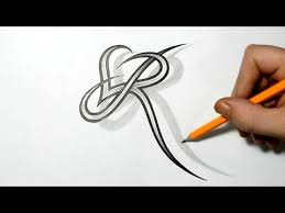 Tattoo Template Amazing Cursive Letter R Tattoo Courtnews