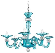 ermione murano glass chandelier blue