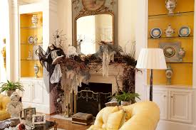 diy halloween decorations home. View In Gallery Fireplace With Halloween Skulls, Skeletons, And Branches Diy Decorations Home O