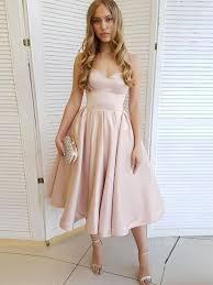Light Pink Graduation Dress Simple Sweetheart Neck Satin Short Prom Dresses Light Pink Homecoming Graduation Dresses