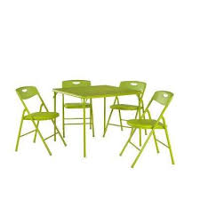 5 piece apple green folding and chair set