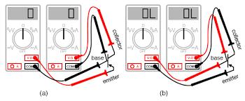 Meter Check Of A Transistor Bjt Bipolar Junction