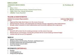 Resume Samples For High School Students High School Student Resume