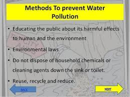 prevent water pollution essay esseys
