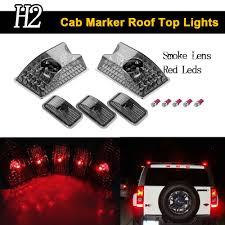 Keyecu 5pcs Black Smoked Lens Cab Roof Marker Lights Roof