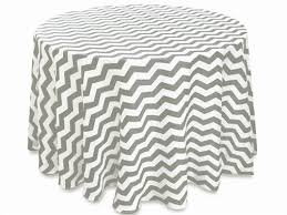 picture of table cloth 120 chevron gray white satin round