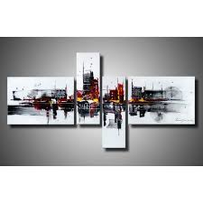 >abstract 454 hand painted 4 piece gallery wrapped canvas art set no  abstract 454 hand painted 4 piece gallery wrapped canvas art set no frame