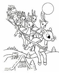 Our christmas santa's reindeer coloring pages and coloring pages feature some of the favorite kids christmas activities that kids love for this special holiday. Online Rudolph And Other Reindeer Printables And Coloring Pages Santa Coloring Pages Rudolph Coloring Pages Christmas Coloring Sheets