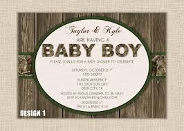 orange or green boy wood hunting baby shower invitation digital diy printable orange or green boy