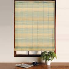 ... Shades, Gray Striped Rectangle Modern Bamboo Shades Roll Up Stained  Ideas: Cool bamboo shades ...