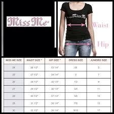 Miss Me Jeans Plus Size Chart Miss Me Denim Size Chart