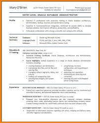 6 Oracle Dba Resume Sample Address Example