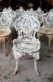 8 cast iron garden chairs cast iron